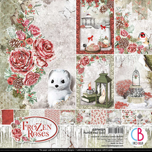 Ciao Bella Papercrafting Frozen Roses 12x12 Inch Paper Pad (CBPM039)
