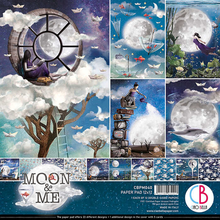 Ciao Bella Papercrafting Moon & Me 12x12 Inch Paper Pad (CBPM040)