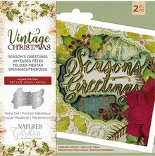 Crafter's Companion Vintage Christmas Season's Greetings Die (NG-VIN-MD-SEAG)