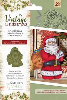 Crafter's Companion Vintage Christmas St.Nicholas Stamp & Dies (NG-VIN-STD-SNIC)