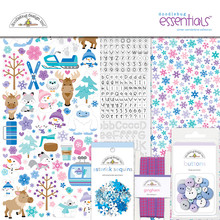 Doodlebug Design Inc. Winter Wonderland 12x12 Inch Essentials Kit (6547)