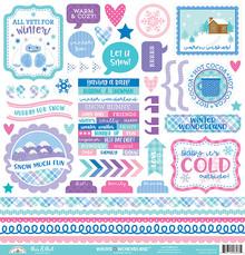 Doodlebug Design Inc. Winter Wonderland This & That Stickers (6563)