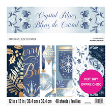 Craft Smith Crystal Blues 12x12 Inch Paper Pad (MSE6455)