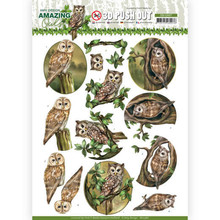 Amy Design 3D Push Out Amazing Owls Forest Owls (SB10487)