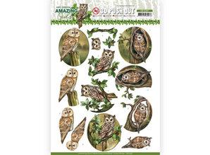 Amy Design 3D Push Out Amazing Owls Forest Owls (SB10487)