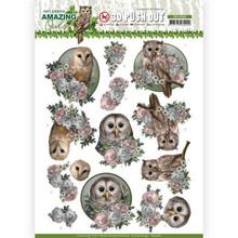 Amy Design 3D Push Out Amazing Owls Romantic Owls (SB10489)