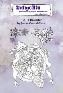 IndigoBlu Bells Bauble A6 Rubber Stamps (IND0667)
