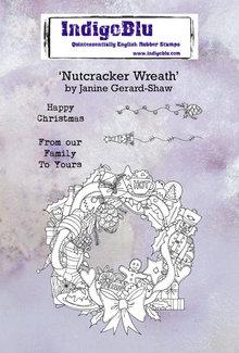 IndigoBlu Nutcracker Wreath A6 Rubber Stamps (IND0668)