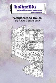 IndigoBlu Gingerbread House A6 Rubber Stamp (IND0673)