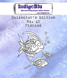 IndigoBlu Collectors Edition 39 Rubber Stamp - Fishies (IND0671)