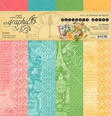 Graphic 45 Ephemera Queen 12x12 Inch Patterns & Solids (4502105)