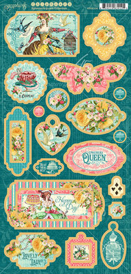 Graphic 45 Ephemera Queen Chipboard (4502106)