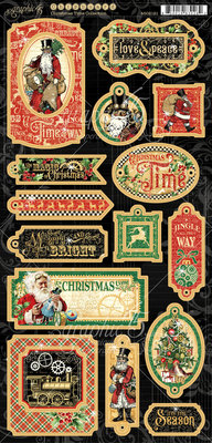 Graphic 45 Christmas Time Chipboard (4502121)