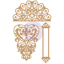 Prima Marketing Inc Lace & Heart Chipboard Diecut (647322)
