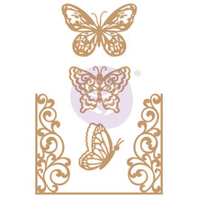 Prima Marketing Inc Butterfly Flight Chipboard Diecut (647346)