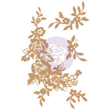 Prima Marketing Inc Beautiful Fleur Chipboard Diecut (647377)
