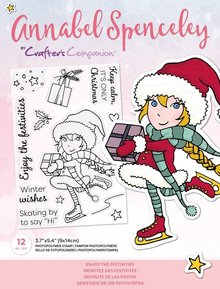 Crafter's Companion Annabel Spenceley Enjoy The Festivities Clear Stamps (AS-STP-ENJIES)