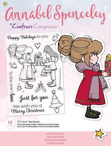Crafter's Companion Annabel Spenceley Happy Holidays Clear Stamps (AS-STP-HAPAYS)