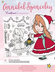 Crafter's Companion Annabel Spenceley Making Spirits Bright Clear Stamps (AS-STP-MAKGHT)