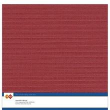 Card Deco Linen Cardstock Christmas Red 10 Vel 30,5x30,5 cm (LKK-SC34)