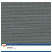 Card Deco Linen Cardstock Dark Grey 10 Vel 30,5x30,5 cm (LKK-SC36)
