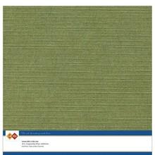 Card Deco Linen Cardstock Moss Green 10 Vel 30,5x30,5 cm (LKK-SC41)