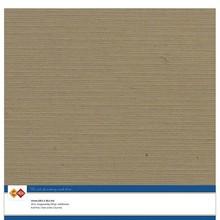 Card Deco Linen Cardstock Kraft Mocha 10 Vel 30,5x30,5 cm (LKK-SC44)