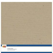Card Deco Linen Cardstock Kraft Cappuccino 10 Vel 30,5x30,5 cm (LKK-SC45)
