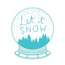 Simply Creative Let It Snow Snowglobe Clear Stamps (SCSTP027X20)