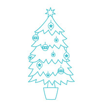 Simply Creative Christmas Tree Clear Stamps (SCSTP033X20)