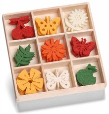 cArt-Us Vilt Ornament Box Fruit Vlinder Bloem (8001208)