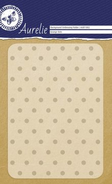 Aurelie Grunge Dots Background Embossing Folder (AUEF1002)