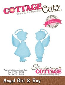 Scrapping Cottage CottageCutz Angel Girl & Boy (Elites) (CCE-319)