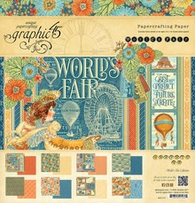 Graphic 45 World's Fair 12x12 Inch Paper Pad (4501177)