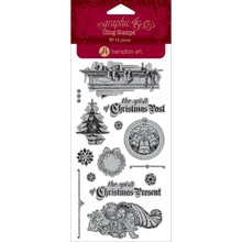 Graphic 45 A Christmas Carol 2 Cling Stamps (IC0342)