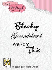Nellie Snellen Tekst Beterschap, Gecondoleerd, Welkom Thuis Clear Stamps (DTCS005)