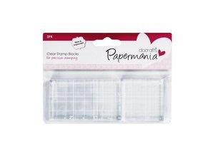 Papermania Clear Stamp Block 4,5x4,5 cm & 4,5x7,5 cm (PMA 9031000)