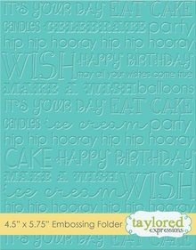 Taylored Expressions Graphic Impressions Birthday Embossing Folder (TEEF30)