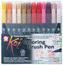 SAKURA Koi Coloring Brush Pens 24 Color Set (XBR-24)