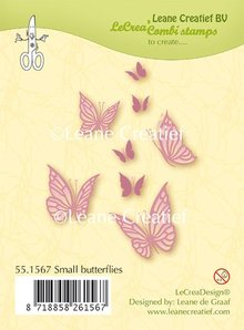 Leane Creatief Small Butterflies Clear Stamps (55.1567)