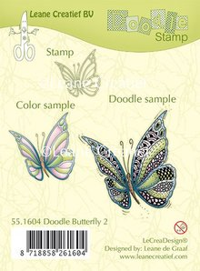 Leane Creatief Doodle Butterfly 2 Clear Stamps (55.1604)