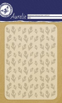 Aurelie Tulips Background Embossing Folder (AUEF1021)
