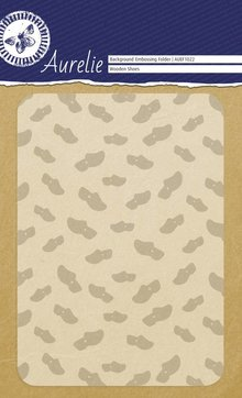 Aurelie Wooden Shoes Background Embossing Folder (AUEF1022)