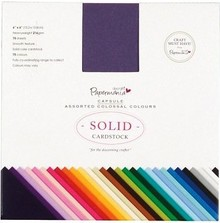 Papermania 6x6 Inch Solid Premium Cardstock Colossal (75pcs) (PMA 164402)