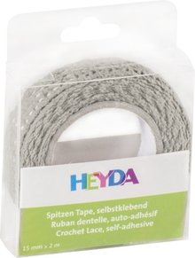 Heyda Self-Adhesive Crochet Lace Grijs (203584583)