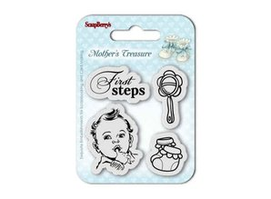 ScrapBerry's Mother's Treasure First Steps 7x7 cm Clear Stamps (SCB4907015)