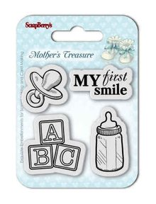 ScrapBerry's Mother's Treasure First Smile 7x7 cm Clear Stamps (SCB4907032)