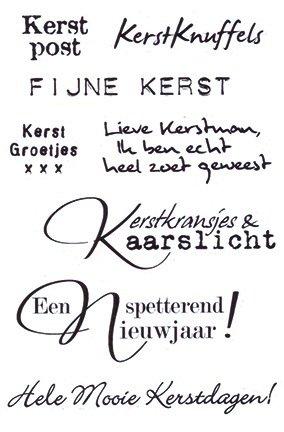 Marianne Design Eline S Kerstwensen Clear Stamps Set Ec0151