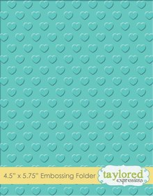 Taylored Expressions Swiss Hearts Embossing Folder (TEEF39)