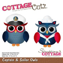 Scrapping Cottage CottageCutz Captain & Sailor Owls (CC-109)
